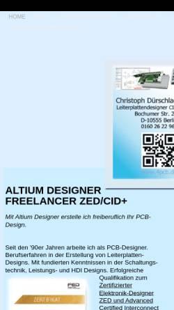 Vorschau der mobilen Webseite www.protel-pcb.de, Christoph Dürschlag