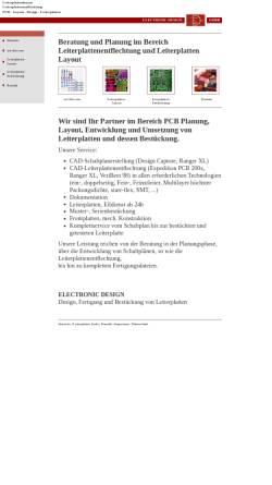 Vorschau der mobilen Webseite www.electronic-design-gmbh.de, Electronic Design GmbH