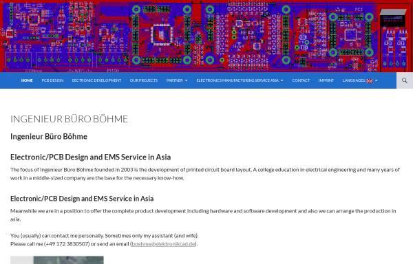 Vorschau von www.elektronikcad.de, Ingenieur Büro Böhme, Inh. Ing. (grad.) Frank Böhme