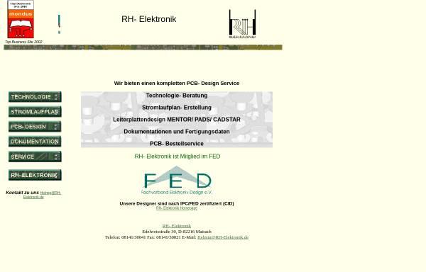 Vorschau von www.rh-elektronik.de, RH-Elektronik Robert Helmig