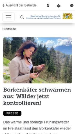 Vorschau der mobilen Webseite www.bayernforst.com, Forst und Garten Kreitmair