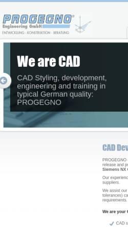 Vorschau der mobilen Webseite www.progegno.com, Progegno Engineering GmbH