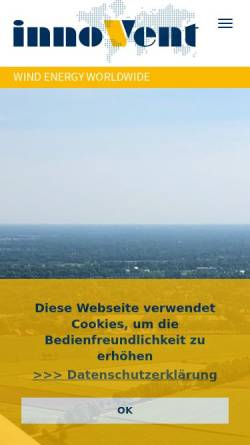 Vorschau der mobilen Webseite www.innovent.eu, innoVent GmbH