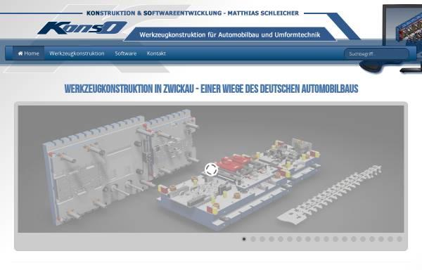 Vorschau von www.konso.de, Konso - Konstruktion & Softwareentwicklung, Inh. Matthias Schleicher