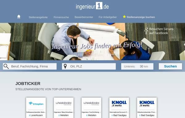 Vorschau von www.ingenieur1.de, Ingenieur1.de - Checkpoint HR Networks GmbH