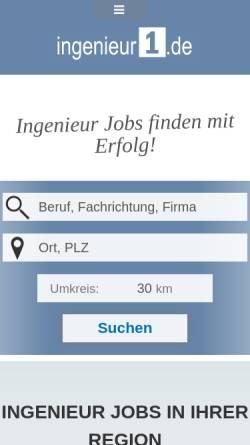Vorschau der mobilen Webseite www.ingenieur1.de, Ingenieur1.de - Checkpoint HR Networks GmbH