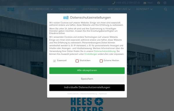 Vorschau von www.heesundpeters.com, Hees und Peters GmbH