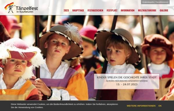 Vorschau von www.taenzelfest.de, Tänzelfest in Kaufbeuren