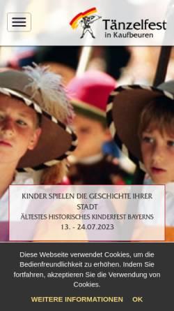 Vorschau der mobilen Webseite www.taenzelfest.de, Tänzelfest in Kaufbeuren