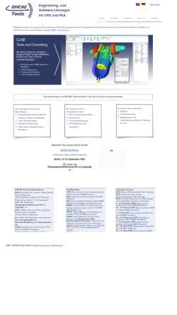 Vorschau der mobilen Webseite www.dhcae.de, Dr. Heck Consulting and Engineering, Inh. Dr. Ulrich Heck