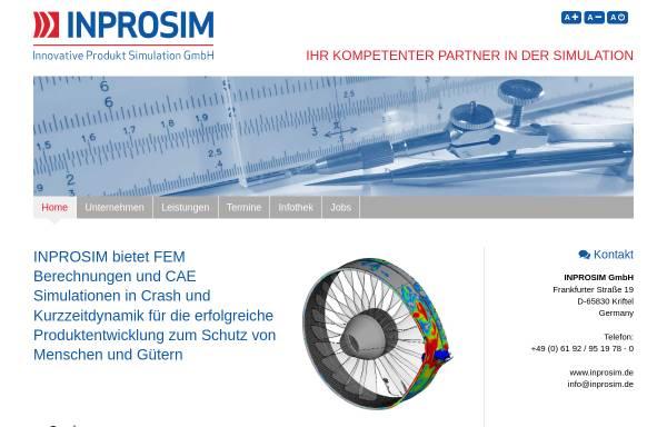 Inprosim GmbH: Numerische Simulation, Ingenieurwesen inprosim.de
