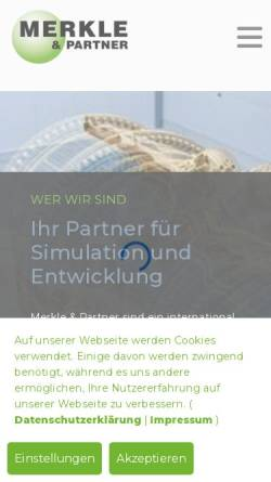 Vorschau der mobilen Webseite www.merkle-partner.de, Merkle & Partner Ingenieurbüro GbR