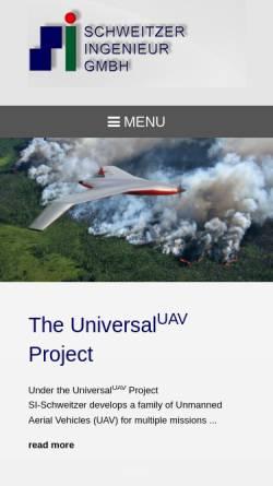 Vorschau der mobilen Webseite www.si-gmbh.com, Schweitzer Ingenieurgesellschaft mbH
