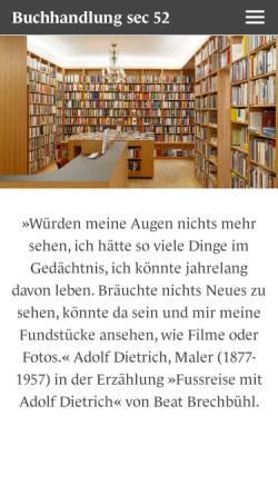 Vorschau der mobilen Webseite sec52.ch, Sec 52