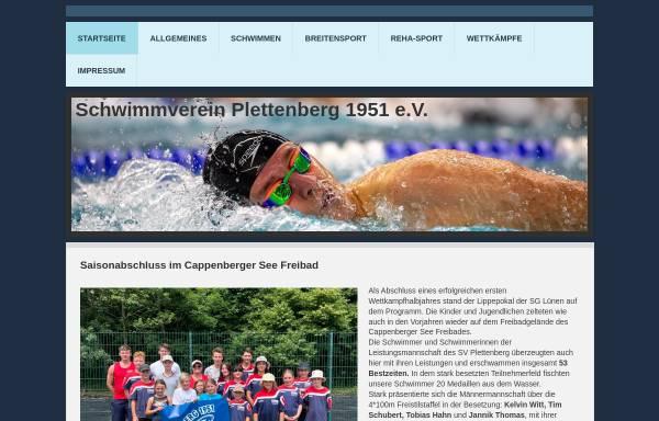 Vorschau von www.sv-plettenberg.de, Schwimmverein Plettenberg 1951 e.V.