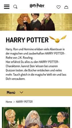 Vorschau der mobilen Webseite www.carlsen-harrypotter.de, Carlsen - Harry Potter
