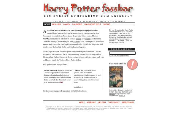 Vorschau von harrypotter.fassbar.de, Harry Potter fassbar