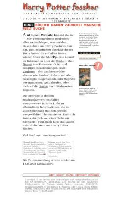 Vorschau der mobilen Webseite harrypotter.fassbar.de, Harry Potter fassbar