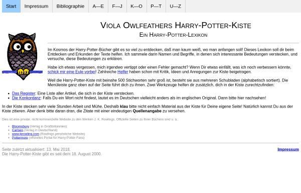 Vorschau von www.eulenfeder.de, Viola Owlfeathers Harry-Potter-Kiste