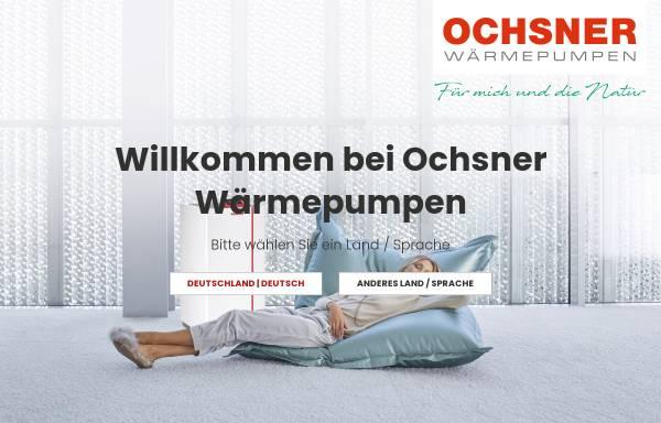 Vorschau von www.ochsner.com, Ochsner Wärmepumpen GmbH