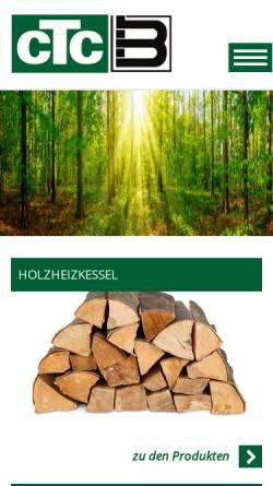 Vorschau der mobilen Webseite www.ctc-heizkessel.de, CTC Heizkessel - Wärmetechnik K. Berthold