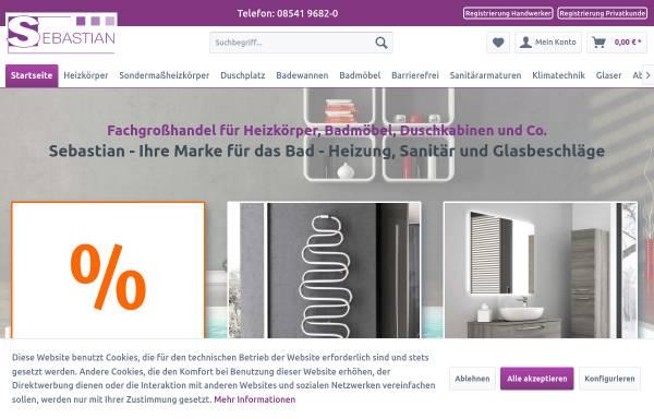 Vorschau von www.sebastianek.de, Sebastian e.K., Badheizkörper und Duschkabinen