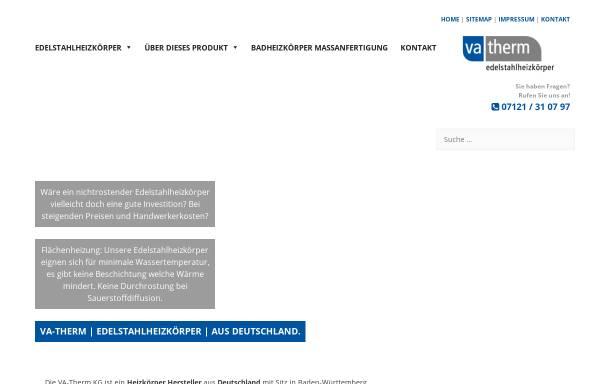 VA-Therm Edelstahlheizkörper - Gmehling und Knapp GbR in Reutlingen ...