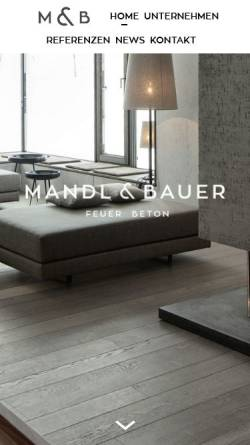 Vorschau der mobilen Webseite www.mandl-bauer.at, Mandl & Bauer