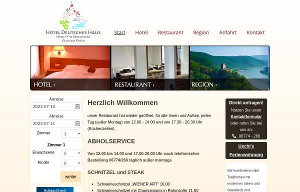 Vorschau von www.hotel-deutsches-haus-kaub.de, Hotel Deutsches Haus