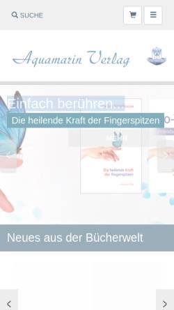 Vorschau der mobilen Webseite www.aquamarin-verlag.de, Aquamarin Verlag