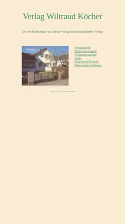 Vorschau der mobilen Webseite www.ullrich-verlag.de, Margarete-Ullrich-Verlag Calw