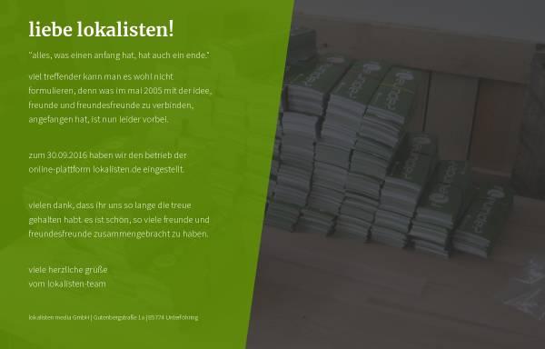 Vorschau von www.lokalisten.de, Lokalisten