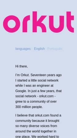 Vorschau der mobilen Webseite www.orkut.com, Orkut