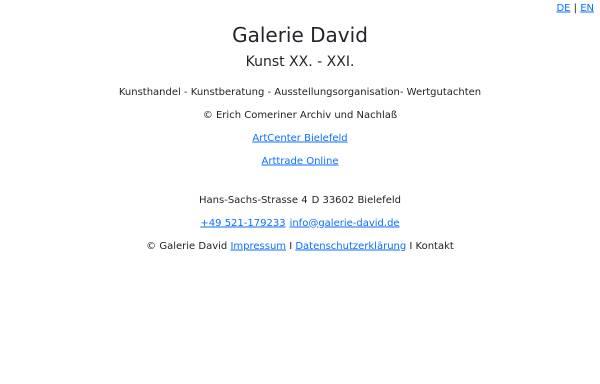 Vorschau von www.galerie-david.de, Galerie David