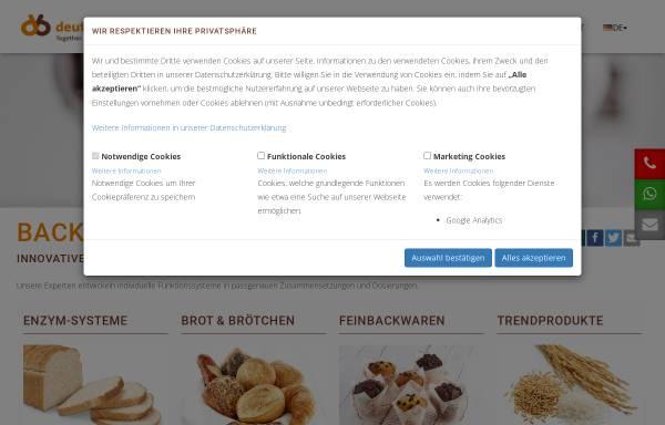 Vorschau von www.deutscheback.de, DEBA Deutsche Back GmbH & Co. KG