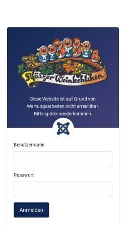 Vorschau der mobilen Webseite pfaelzer-weinkehlchen.de, Pfälzer Weinkehlchen e.V., Neustadt an der Weinstraße