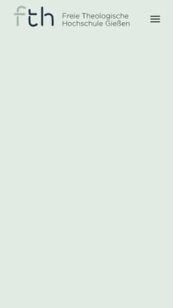 Vorschau der mobilen Webseite www.fthgiessen.de, Freie Theologische Hochschule Gießen