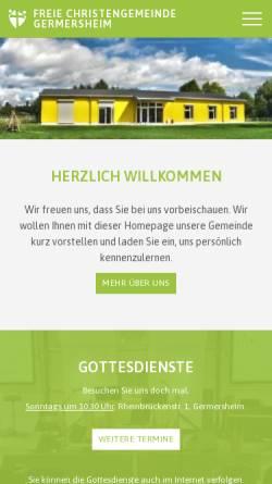 Vorschau der mobilen Webseite fcg-germersheim.de, Freie Christengemeinde Germersheim