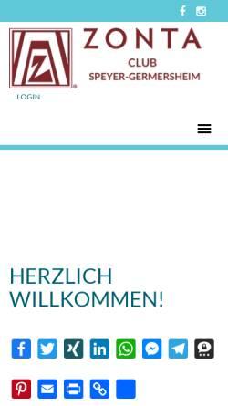 Vorschau der mobilen Webseite www.zonta-speyer-germersheim.de, ZONTA Club Speyer-Germersheim