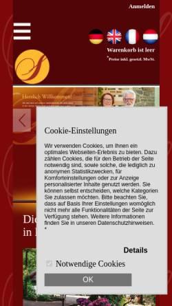 Vorschau der mobilen Webseite www.senfmuehle.de, Historische Senfmühle Monschau