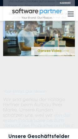 Vorschau der mobilen Webseite www.software-partner.de, Software Partner Datenmedien-Service- und Vertriebs GmbH