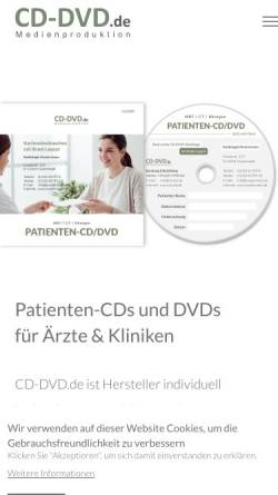 Vorschau der mobilen Webseite www.cd-dvd.de, ProFX Multimedia, Nabil Zitouni