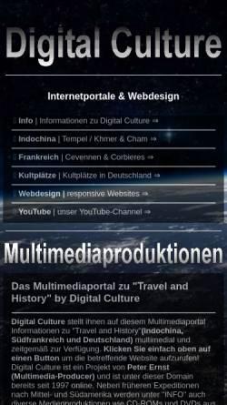 Vorschau der mobilen Webseite www.digital-culture.de, Digital-Culture