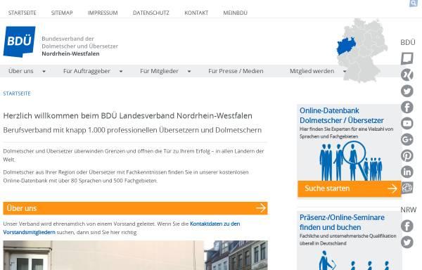 Vorschau von www.bdue-nrw.de, BDÜ Landesverband NRW e.V.