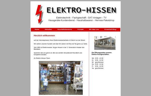 Vorschau von www.elektro-hissen.de, Elektro Hissen