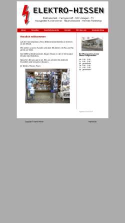 Vorschau der mobilen Webseite www.elektro-hissen.de, Elektro Hissen
