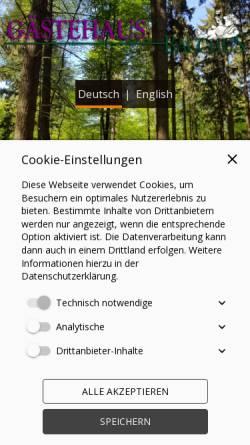 Vorschau der mobilen Webseite www.wachenheim-bacchus.de, Gästehaus Bacchus
