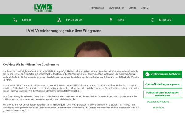 Vorschau von www.wiegmann.lvm.de, LVM-Servicebüro Uwe Wiegmann