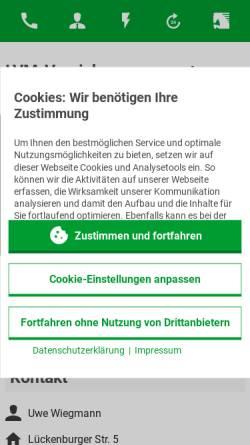 Vorschau der mobilen Webseite www.wiegmann.lvm.de, LVM-Servicebüro Uwe Wiegmann