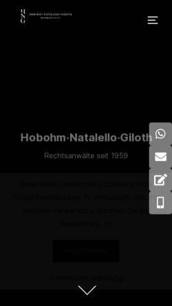 Vorschau der mobilen Webseite www.kanzlei-hobohm.de, Anwaltskanzlei Hobohm & Kollegen